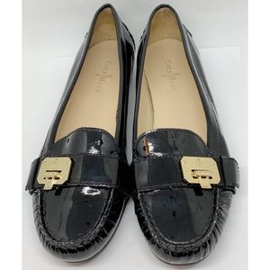 Cole Haan Black Patent Leather Loafer Shoes 7.5